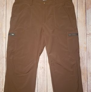 LL Bean Mens Cresta Hiking Pants Brown 40 x 32